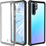 Casetego Compatible Huawei P30 Pro Case,Clear Impact Shockproof Full Body Protection Built-in Screen Protector Heavy Duty Rugged Armor Cover Case for Huawei P30 Pro,Clear