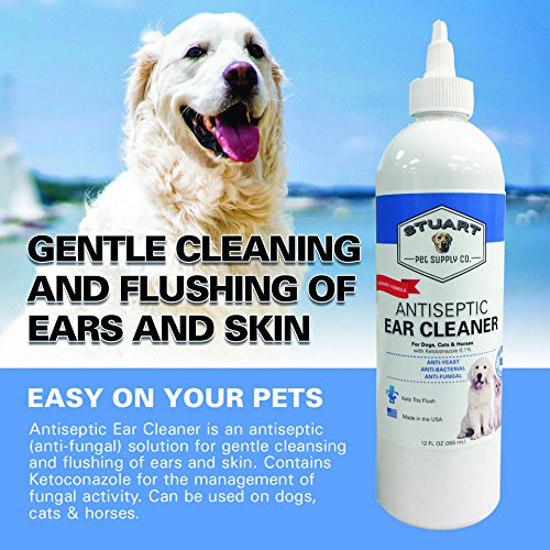 Stuart Pet Supply Co.. Antiseptic Ear Infection Treatment For Dogs-Veterinary Formulated-Veterinary Recommended For Head Shaking, Itching, Discharge & Smelly Ears 100% 12oz. by Stuart Pet Supply Co. (Image #3)