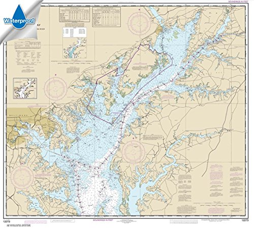 Paradise Cay Publications NOAA Chart 12273: Chesapeake Bay Sandy Point to Susquehanna River 35.5 x 39.5 (WATERPROOF) - Noaa Marine Charts