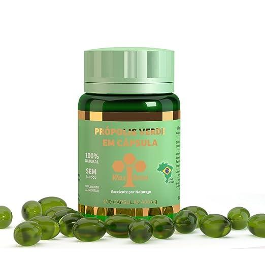 Amazon.com : Wax Green Bee Propolis with Vitamin C+E 400mg 100Capsules : Beauty