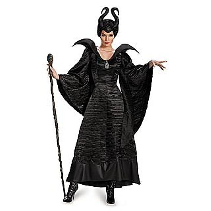 Amazon.com: Maléfica negro Gown para bautizo Deluxe disfraz ...