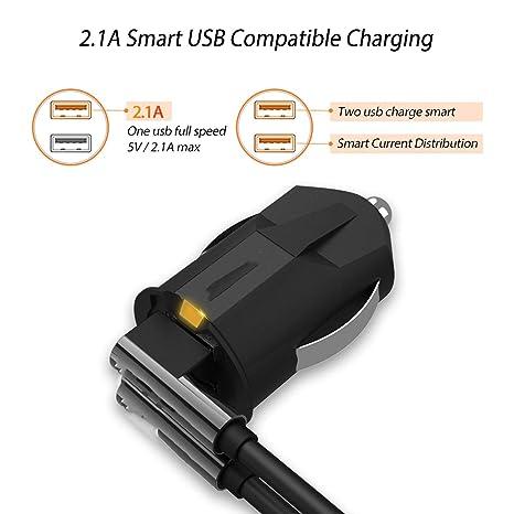 Amazon.com: Smallest Mini USB Car Charger Adapter 2A Car USB ...