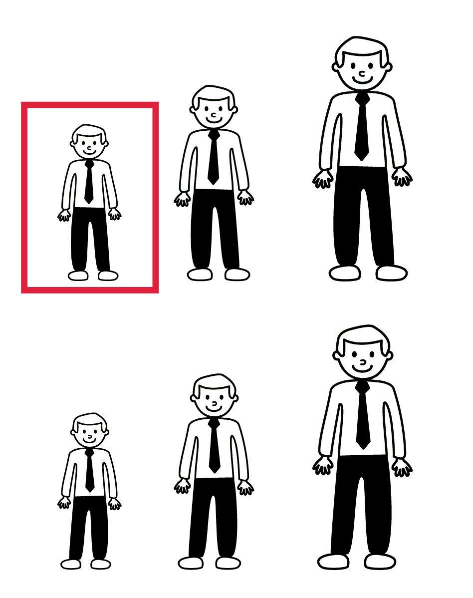 Pegatinas de familia - Hombre camisa y corbata.Orientación normal ...