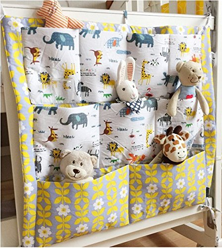 Nursery Bag Diaper - FS Baby Crib Nursery Diaper Bag Storage Stacker Hanging Organizer With 9 Pockets Baby Room Decor (Animal)