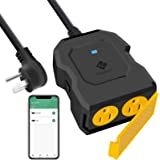 Outdoor Smart Plug Outlet, Etekcity Outdoor WiFi Outlet with 2 Sockets, Works with Alexa, Google Home, Wireless Remote…