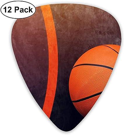 Púas de guitarra con diseño de pelota de baloncesto 12 paquetes ...