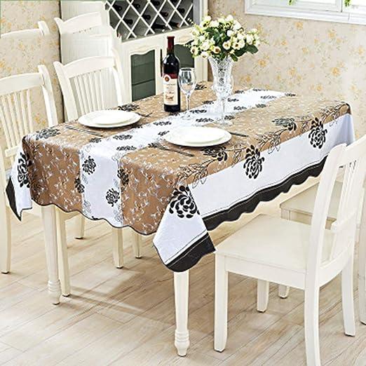 CONGMING-tablecloths Manteles De Mesa Corredores De Mesa Manteles Al Aire Libre-Aceite De Celosía De Jardín Impermeable Y Resistente Al Aceite De PVC: Amazon.es: Hogar