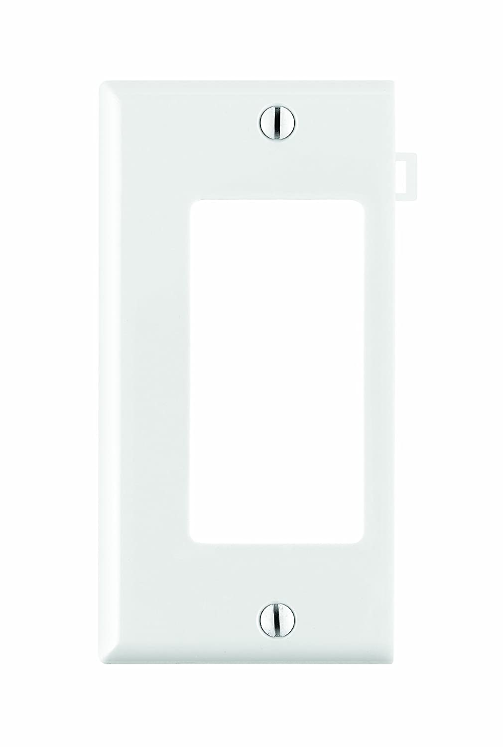 Leviton PSE26-W 1-Gang Decora/GFCI Device Wallplate, Sectional, Thermoplastic Nylon, Device Mount, End Panel, White