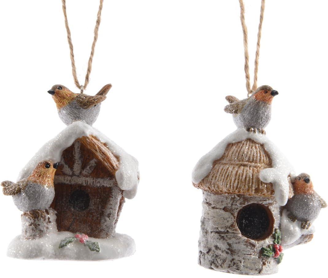 Caja Nido de Navidad petirrojo Filou Topo: Amazon.es: Hogar