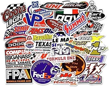 DZCYAN 50pcs/Pack Formula One Racing Car Graffiti Stickers Kids ...