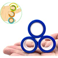 Magnetic Rings Toy, Magnetic Bracelet Ring Unzip Toy Magical Ring Props Tools, Colorful Stress Relief Toy Finger Game…