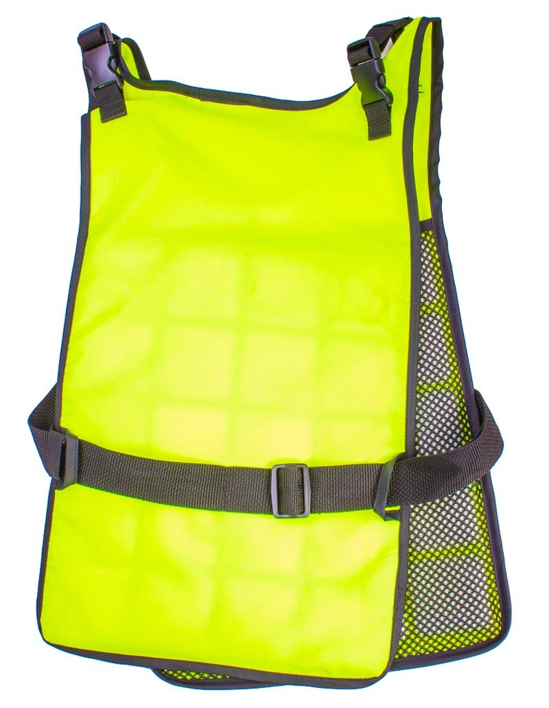 Self Charging High Vis Lime Cooling Vest with Inserts