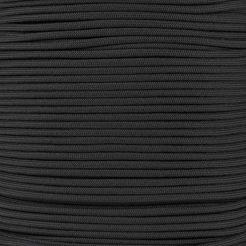 Mil Spec Type III 550 Paracord - 7 Strand Core - Black - Nylon Commercial Grade, Parachute Cord, Survival Cord - 10 Ft Hank by PARACORD PLANET (Image #1)
