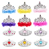 Princess Crown Set 12 Pack Tiara Party Favors for Dress Up Fairytale Role Play Kids