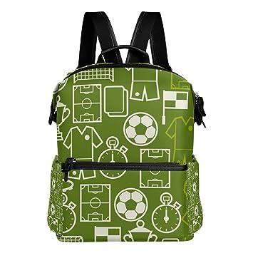 TIZORAX - Mochila Escolar con símbolos de fútbol, Ideal para niños y niñas: Amazon.es: Deportes y aire libre