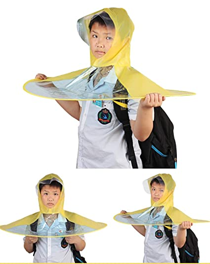 Creative UFO Waterproof Hands Free Umbrella Rain Hat Headwear Cap Raincoat  Outdoor Fishing Golf Child Adult d59757bee307