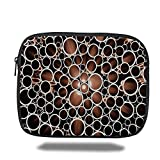 Laptop Sleeve Case,Copper Decor,Copper Round Pipes 3D Style Display Industrial Theme Circles,Cinnamon Dark Brown Cream,iPad Bag