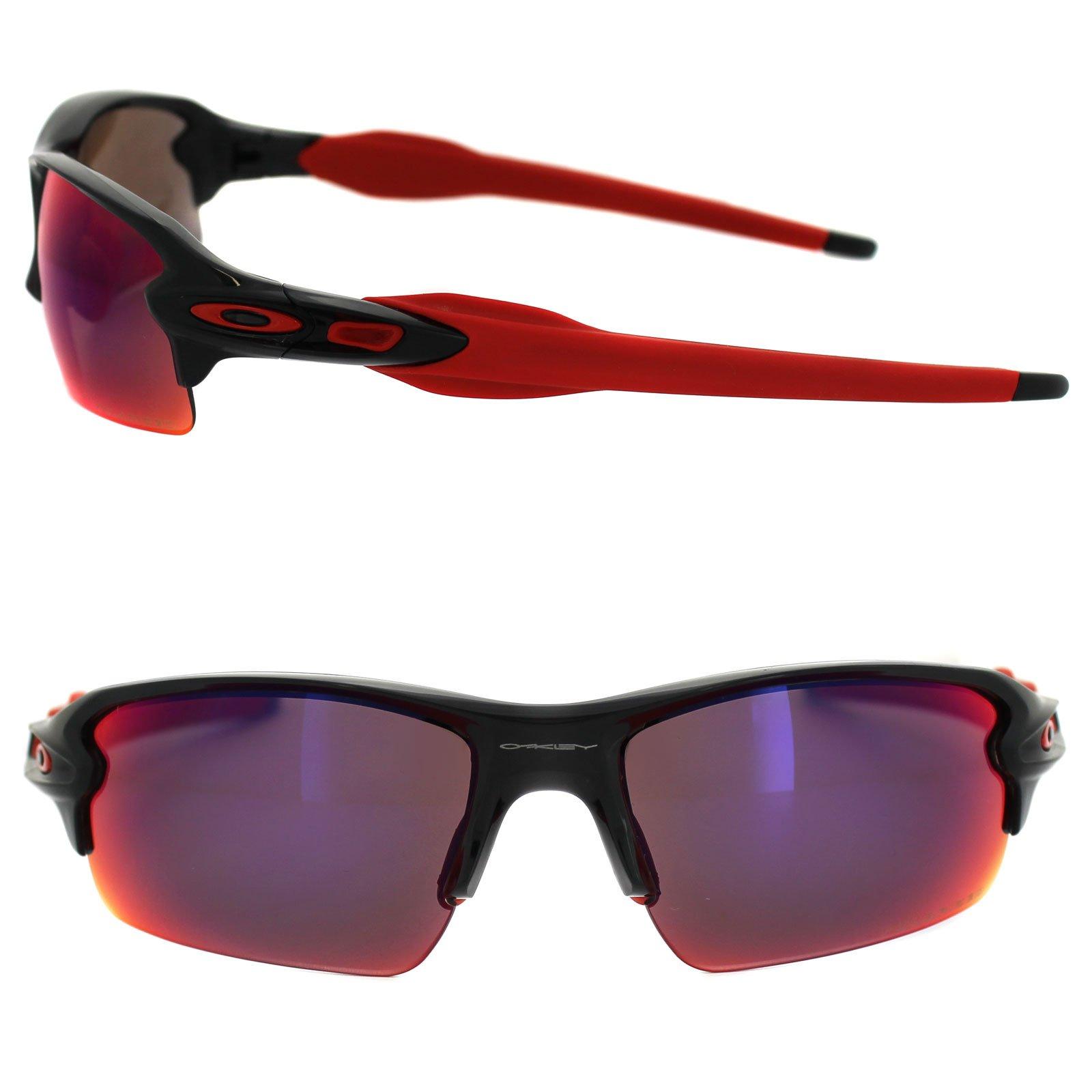 Oakley Half Jacket 2.0 XL Polished Black Red Iridium Polarized Sunglasses