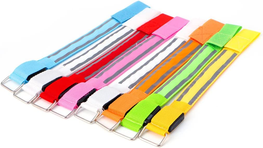 ER-NMBGH Colorful LED Armband Safety Sports Reflective Belt for Night Running Cycling