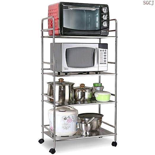 DUDDP Cocina estanterías Estante de la Cocina/microondas de Acero ...