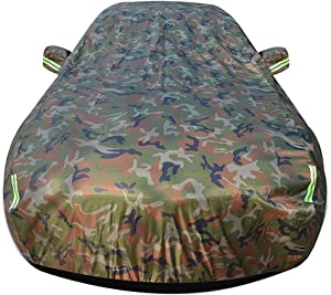 Car cover Compatible with Alfa Romeo 156 All Weather Waterproof and Windproof UV Universal Full Size with Car Clothes Lock Oxford Cloth Positive and Negative Available