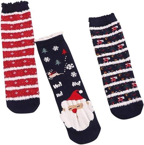 3Pairs//Set Yliquor Women Cotton Christmas Socks Casual Home Floor Socks Medium Sports Socks for Men Women Girls Boys