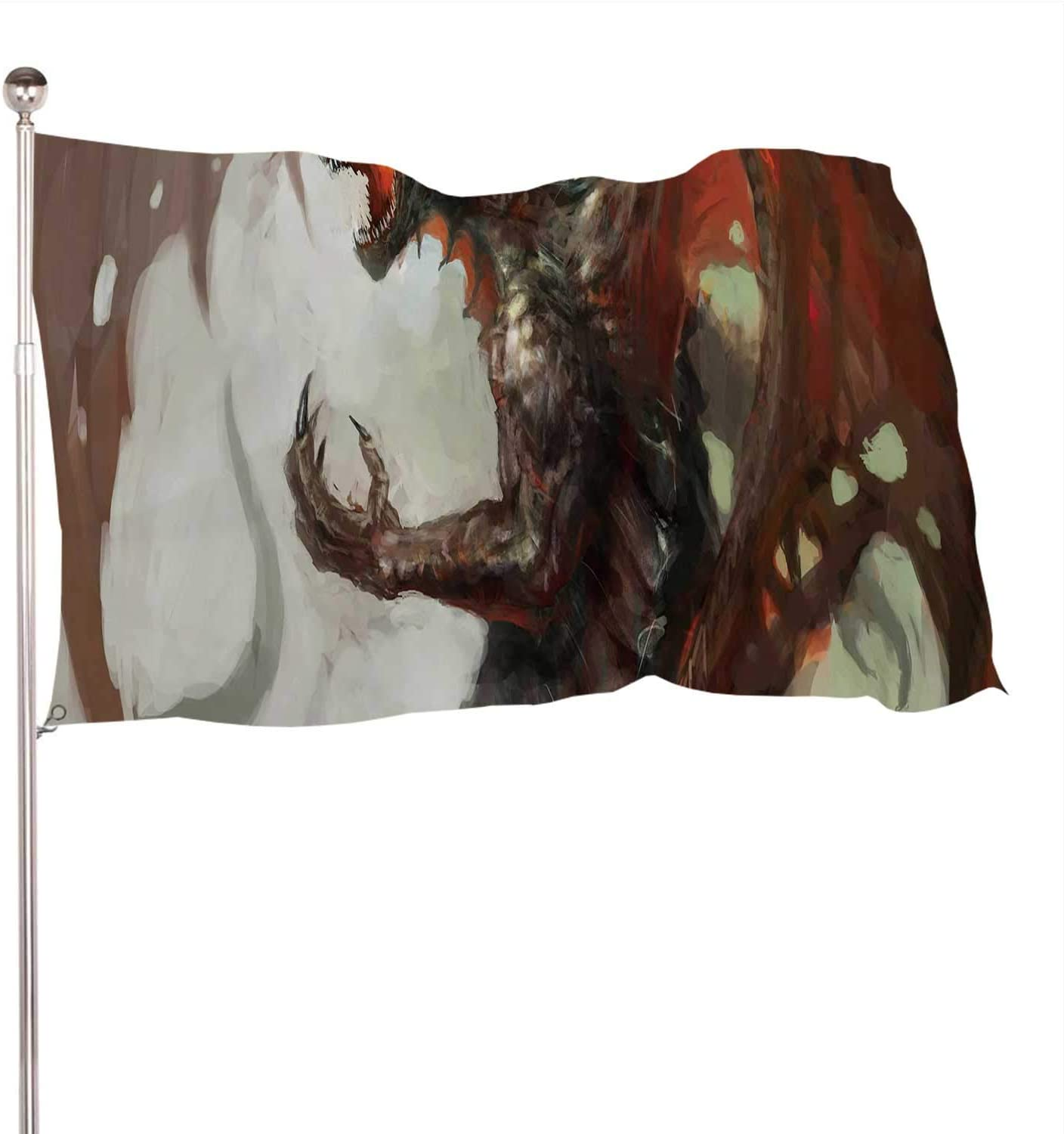 Dxichy of Mythology Creature,Decoration Indoor and Outdoor BannerThe Banquet Large Dragon 3x5 Ft