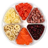 Sincerely Nuts Tropical Dried Mixed Fruit Tray | Kosher Certified Papaya Chunks, Pineapple Tidbits, Strawberries, Banana Chips, Mango Slices, and Cranberries | Supremely Fresh