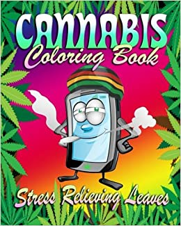 cannabis coloring book stress relieving leaves volume 1 madison morgan 9781530475988 amazoncom books - Cannabis Coloring Book