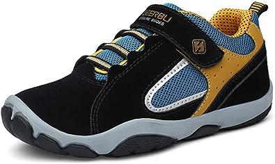 MORENDL Zapatillas de Correr Flexibles para niños y niñas para Todas Las Estaciones (niños pequeños y Mayores), Negro (Negro), 34 EU: Amazon.es: Zapatos y complementos