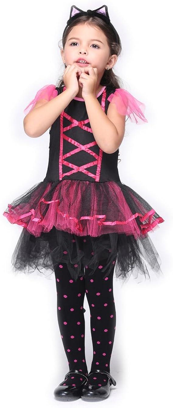B-JOY Disfraz de Gatos Niños Ballet Falda Vestido Gatito Animales ...