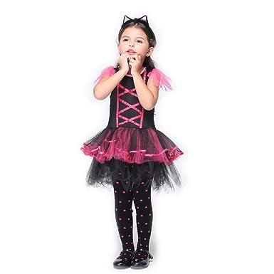 B de Joy Disfraz de gatos Niños Ballet falda vestido gatito animales Disfraz Tutu vestido con cola y orejas de pelo maduro Lila: Amazon.es: Ropa y ...