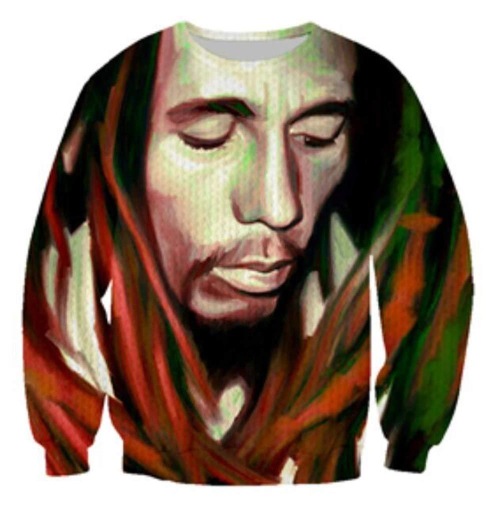 Kleidung Tupac Sweatshirt Hip Hop Jersey Jumper 3D Print 2Pac Pullover Men and Damens Couple Sweater,XL