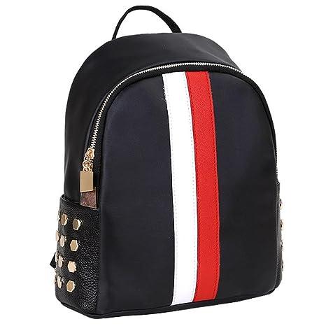 ❤️XINANTIME - Bolsos de hombro preppy del remache de las muchachas Viajes escolares Bolso mochila