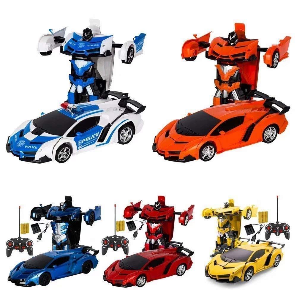 Becoolest/™ Remote Control Transforming Robot Car BLUE