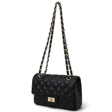 Amazon.com  Sheli Ladies Purses Quilted Handbags Cross Body Bags for ... ebbc41196f