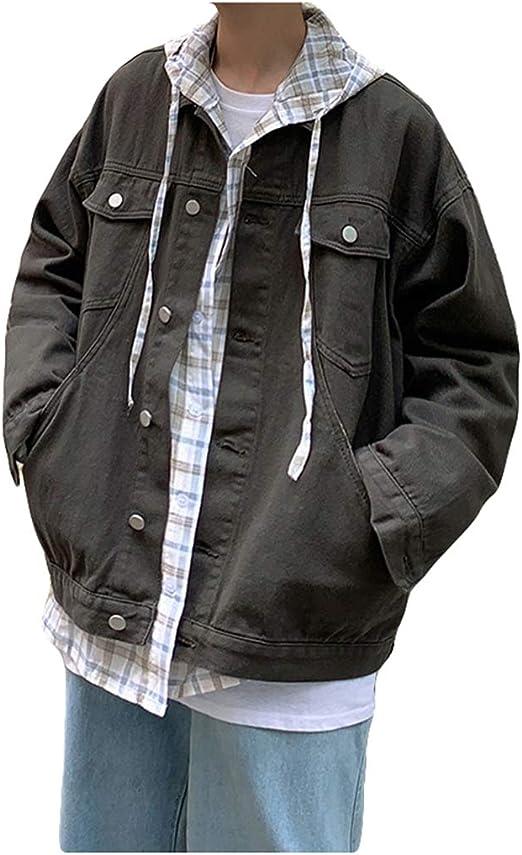 QYYデニムジャケット メンズ ゆったり 長袖 ジャケット デニム ジージャン 綿 カジュアル おしゃれ アウター 大きいサイズ 秋