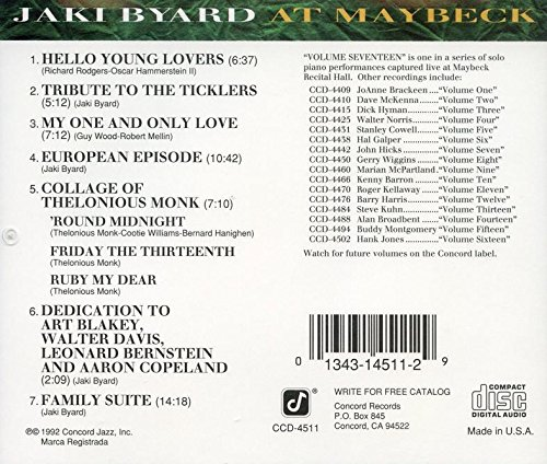 Live at Maybeck 17 by Concord Records