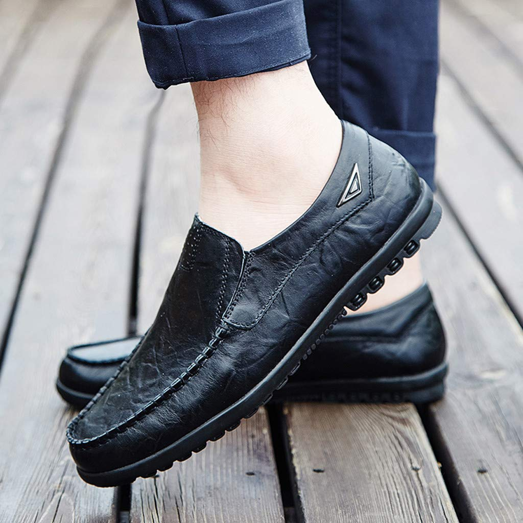 Zapatos Hombre Vestir Casual Zapatos De Negocios Casuales para Hombres Zapatos De Guisantes De Cabeza Redonda Casuales Zapatos De Traje De Hombre