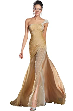 eDressit New High Slit Beaded One Shoulder Evening Dress (00133224)