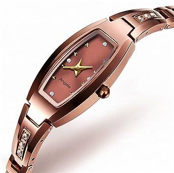 GAOY Watch Relojes Reloj Para Mujer Cuarzo Acero De Tungsteno Pulsera Reloj De Pulsera Dorado Blanco Reloj Cuadrado,Rosy: Amazon.es: Electrónica