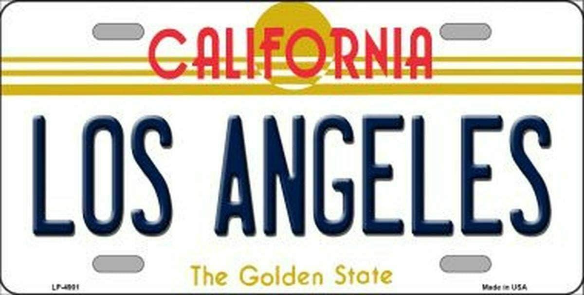 SIGNCHAT Plaque dimmatriculation avec Fond de Californie Los Angeles 15 x 30 cm