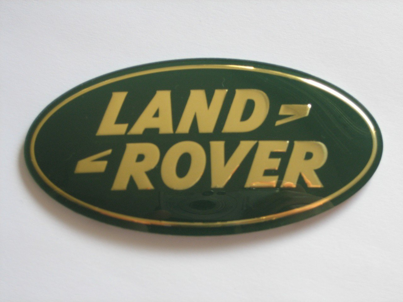 Amazon Land Rover Oval Front Grille Badge Green On Gold New
