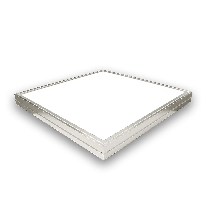 LED Deckenleuchte 60 Watt quadratisch 60x60cm - neutral weiß - alu, 220 Volt, Schutzklasse IP20, Abstrahlwinkel 120 Grad Ledlam