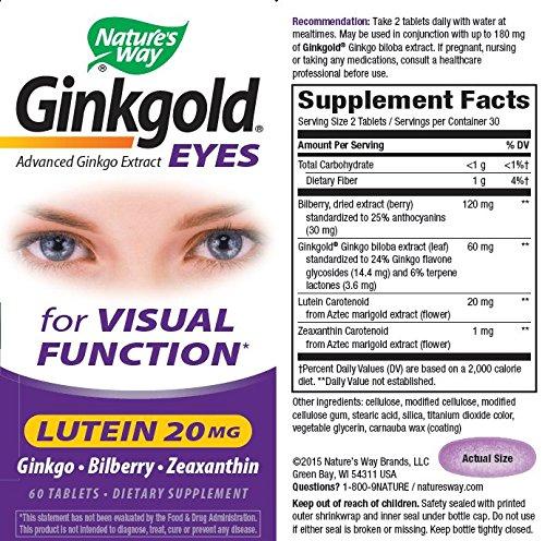 Ginkgold Eyes - 60 Tab ( pack of 8)