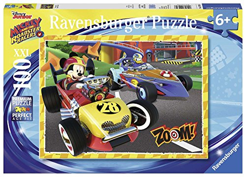 Ravensburger Disney Mickey & The Roadster Racers Go Mickey! 100 Piece Jigsaw Puzzle for Kids – Every Piece is Unique, Pieces Fit Together Perfectly by Ravensburger