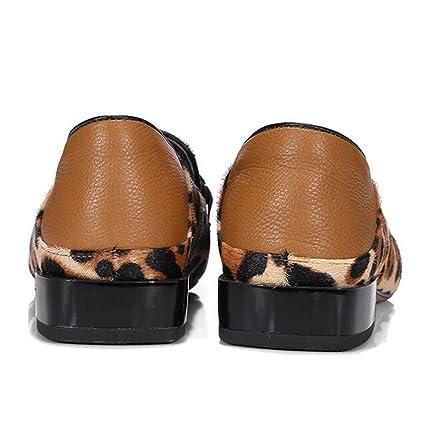 XIE Zapatos de mujer Cabello de caballo Hebilla de metal Mocasines Bailarina plana Tamaño 35 a 41: Amazon.es: Deportes y aire libre