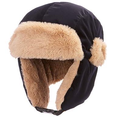 84943779c4eb7 AHAHA Unisexe Chapeau d'hiver Bomber Cap pour Enfants Garçon Cache-Oreilles  Chaud Capuche
