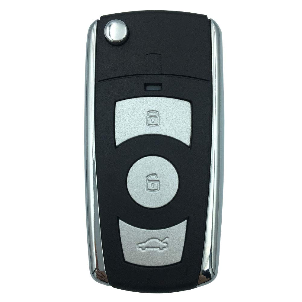 4 Buttons Folding Flip Car Key Fob Case for Hyundai Elantra