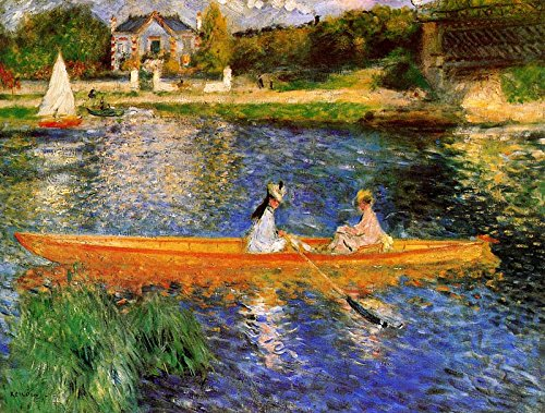 Boating on the Seine - Pierre-Auguste Renoir. Art Print Poster (16